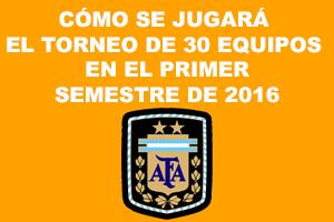 Torneo 30 equipos 1S 2016