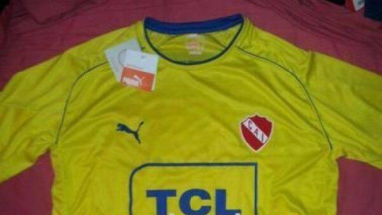 La camiseta amarilla que usaría Independiente