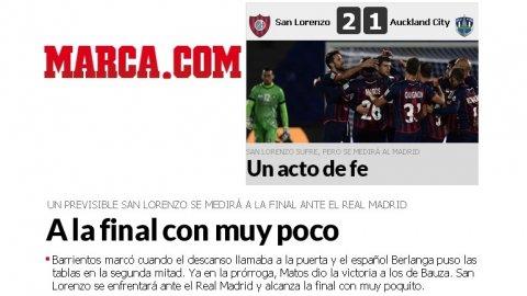 Críticos: así reflejaron los medios españoles el pase de San Lorenzo a la Final