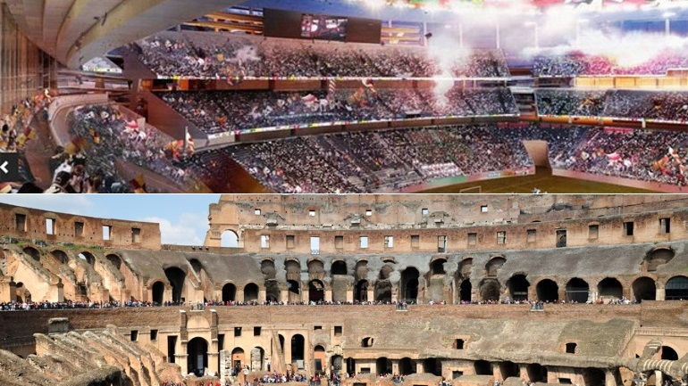 Las imagenes del nuevo estadio de la Roma