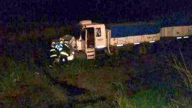 El camión que impactó con el auto donde murieron los cuatro árbitros