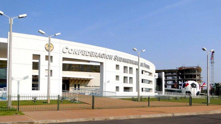 El edificio de la Conmebol, ubicado en Paraguay.