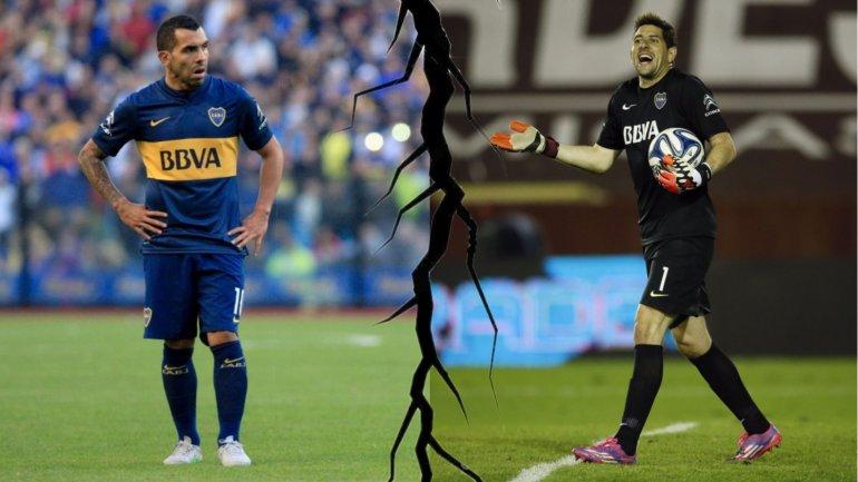Arde el vestuario de Boca: Carlos Tevez y Agustín Orion