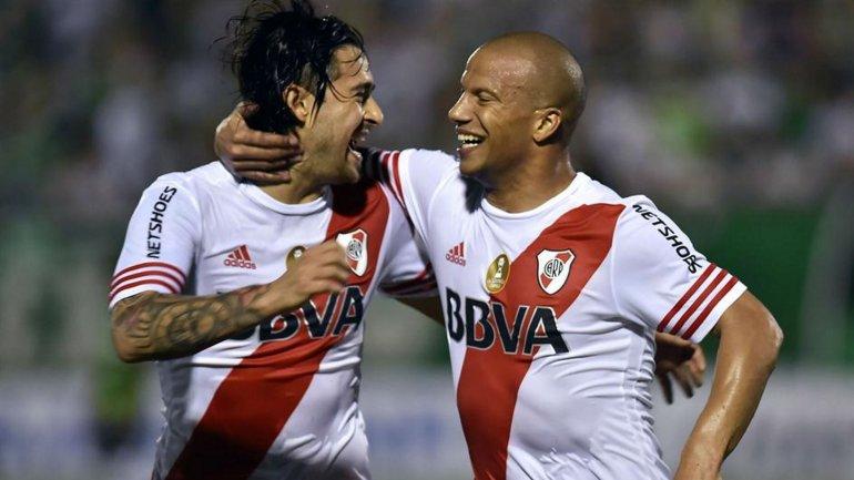 Leonardo Pisculichi y Carlos Sánchez, dos ídolos de River