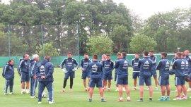 La Selección se prepara para el partido del jueves ante Brasil