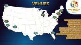 Las sedes de la Copa América del Centenario