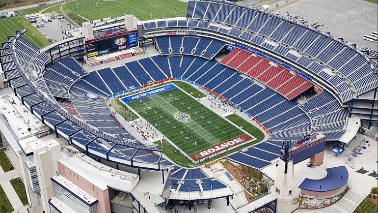 El <i>Gillette Stadium</i> de Boston alberga cerca de 68 mil aficionados