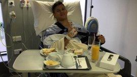 La foto que subió Marcos Rojo a su cuenta de Instagram, tras ser operado