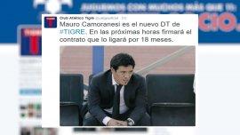 Tigre anunció la contratación de Mauro Camoranesi