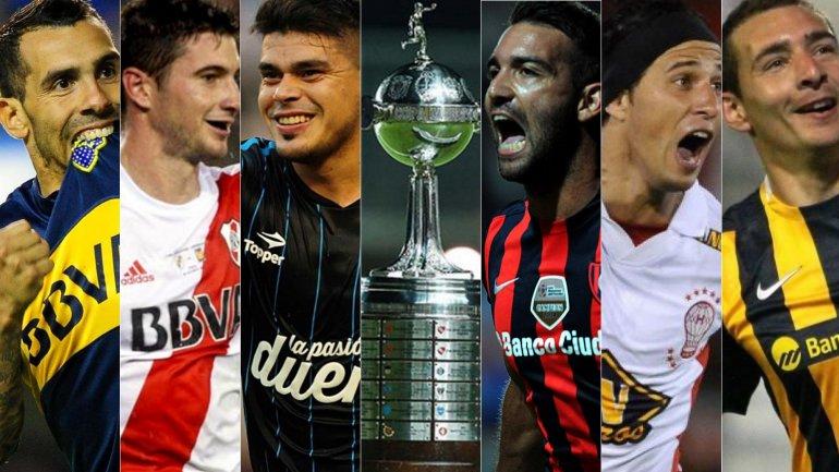 Boca, River, Racing, San Lorenzo, Huracán y Rosario Central jugarán la Copa Libertadores 2016