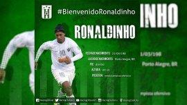 Racing Club de Montevideo anunció el fichaje de Ronaldinho