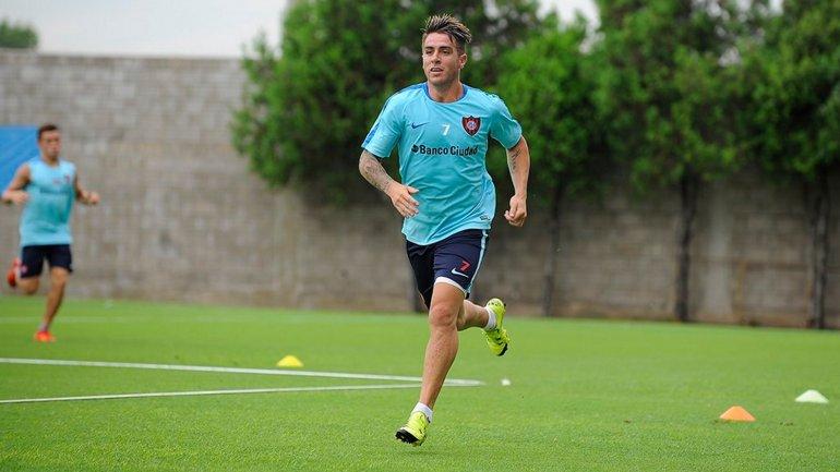 Julio Buffarini, a full en el entrenamiento de San Lorenzo