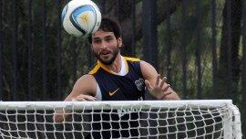 Nicolás Lodeiro en la práctica de Boca en Cardales