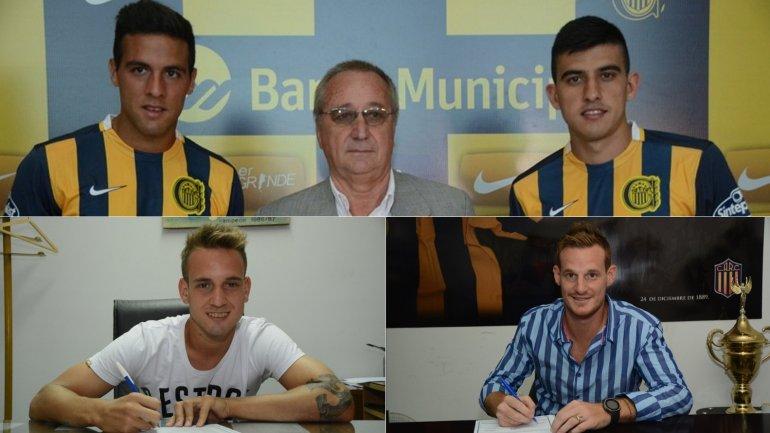 Esteban Burgos, Rodrigo Battaglia, Gastón Gil Romero y Mauro Cetto, los otros refuerzos de Rosario Central