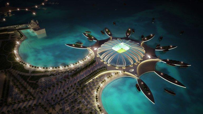 Está planificada la construcción del Estadio Puerto de Doha para el Mundial 2022