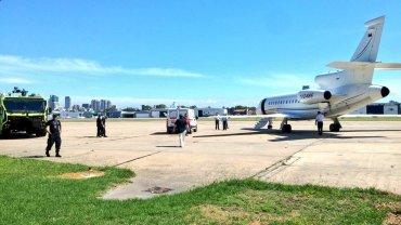 El avión que trasladó a los últimos heridos de Huracán tras el accidente