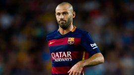 Javer Mascherano aún no pudo convertir con la camiseta de Barcelona