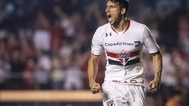 Jonathan Calleri tuvo una noche soñada al marcarle cuatro tantos a Trujillanos en la Copa Libertadores