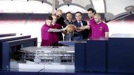 Messi y Mascherano, protagonistas del lanzamiento de las obras de remodelación del Camp Nou