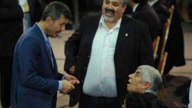 Marcelo Tinelli y Hugo Moyano, cara a cara el día de las fallidas elecciones de la AFA