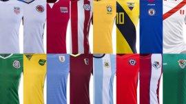 Las camisetas de las 16 selecciones que jugarán la Copa América