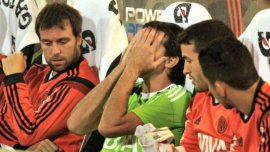 Fernando Cavenaghi y Marcelo Barovero, cuando conincidieron como futbolistas de River